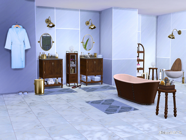Bathroom Potterybarn by ShinoKCR at TSR image 642 Sims 4 Updates