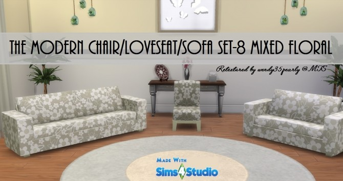 Modern Chair Sofa LoveSeat SET by wendy35pearly at Mod The Sims image 65 670x354 Sims 4 Updates
