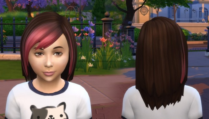 Sims 4 Louise Hair for Kids at My Stuff