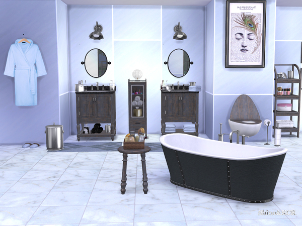 Bathroom Potterybarn by ShinoKCR at TSR image 652 Sims 4 Updates