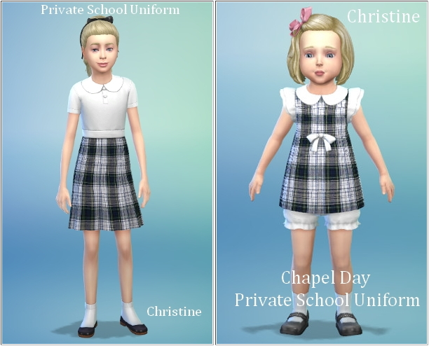 School uniforms by Christine at CC4Sims image 6617 Sims 4 Updates