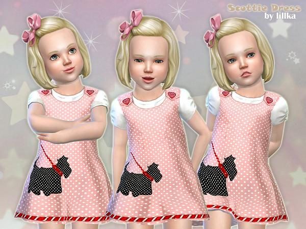 Sims 4 Scottie Dress by lillka at TSR
