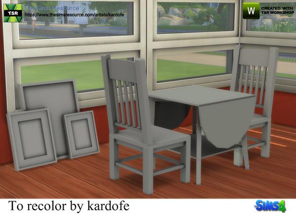 Sims 4 To recolor set by kardofe at TSR