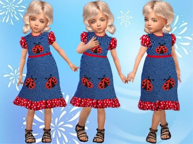 Denim frill dress T at Trudie55 image 6718 670x503 Sims 4 Updates