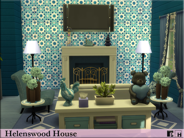 Sims 4 Helenswood House by Pinkfizzzzz at TSR