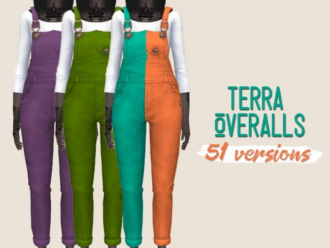 Sims 4 Terra Overalls by midnightskysims at SimsWorkshop