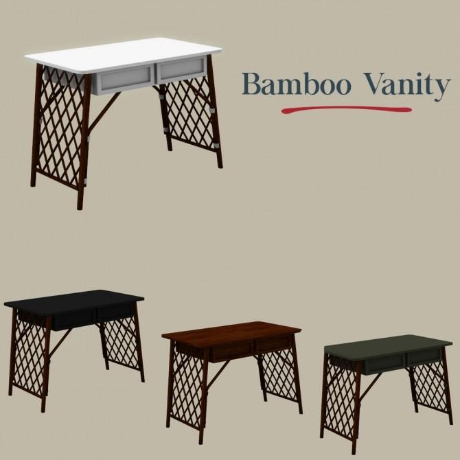 Sims 4 Bamboo Vanity at Leo Sims