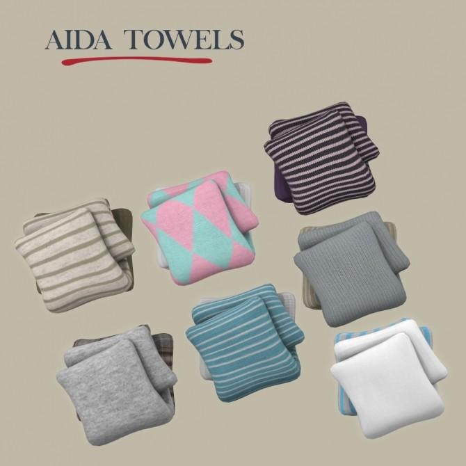 Sims 4 Aida Towels at Leo Sims