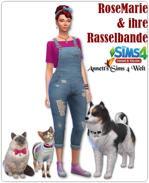 Sims 4 RoseMarie & friends at Annett's Sims 4 Welt