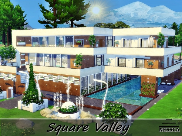 Square Valley house by Nessca at TSR image 7100 Sims 4 Updates