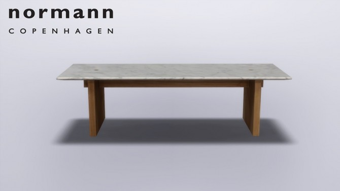 Sims 4 Solid Table at Meinkatz Creations
