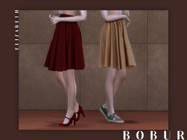 Sims 4 Elizabeth skirt by Bobur3 at TSR