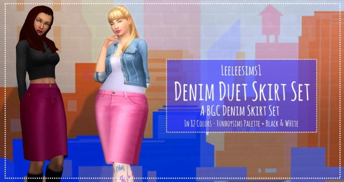 Sims 4 Denim Duet skirts by leeleesims1 at SimsWorkshop
