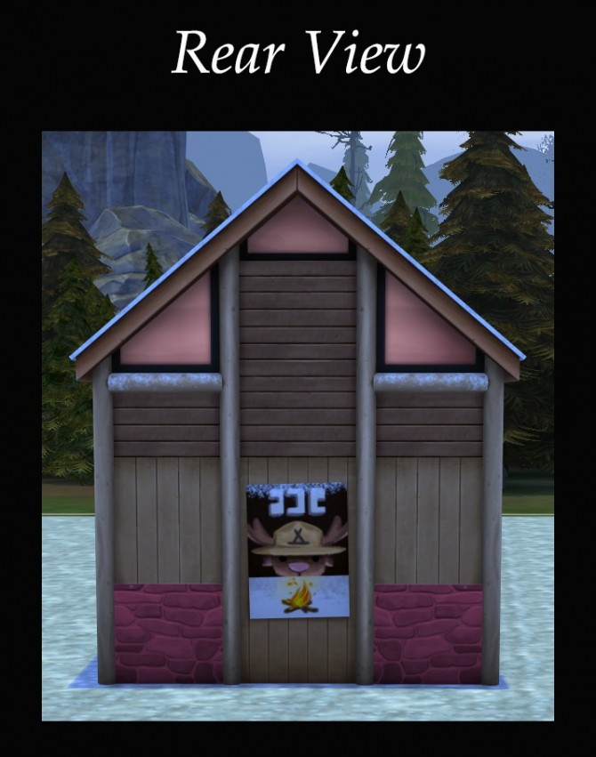 Sims 4 Winterized Trusty Rustic Public Bathroom by Simmiller at Mod The Sims
