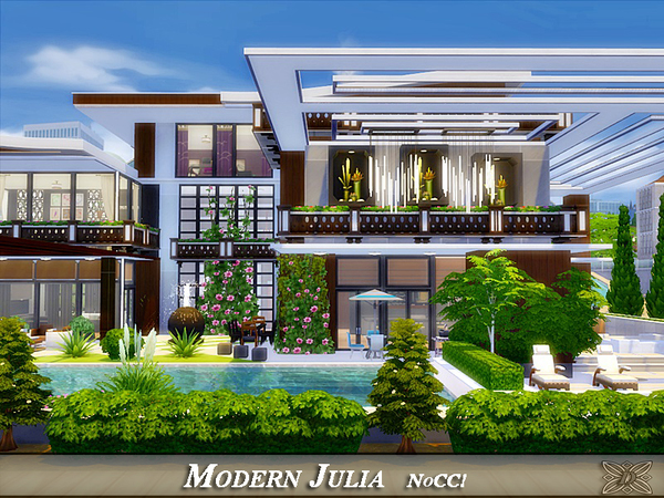 Modern Julia house by Danuta720 at TSR image 7211 Sims 4 Updates