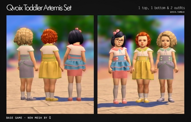 Sims 4 Artemis Set T at qvoix – escaping reality
