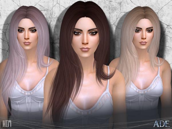 Sims 4 Kim hair by Ade Darma at TSR