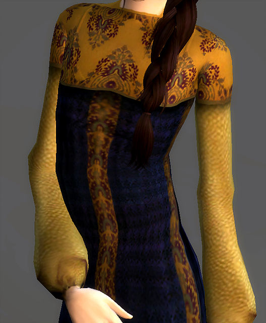 Refugee Disguise Dress Padme Amidala at Magnolian Farewell image 7314 Sims 4 Updates