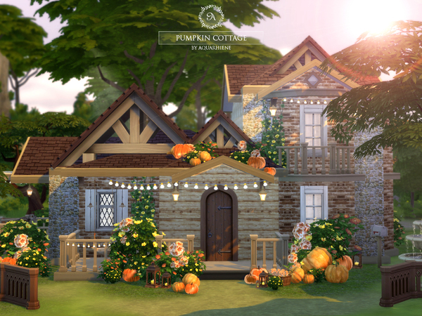 Pumpkin Cottage by Aquarhiene at TSR image 740 Sims 4 Updates