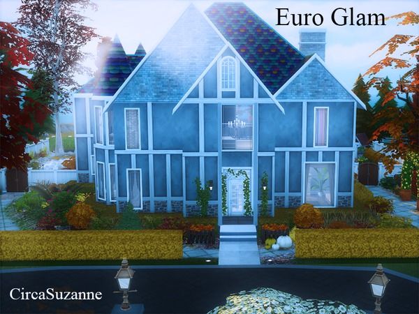 Euro Glam house by circasuzanne at TSR image 750 Sims 4 Updates