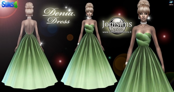 Denia dress at Jomsims Creations image 753 670x355 Sims 4 Updates