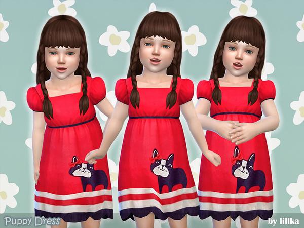 Sims 4 Puppy Dress by lillka at TSR