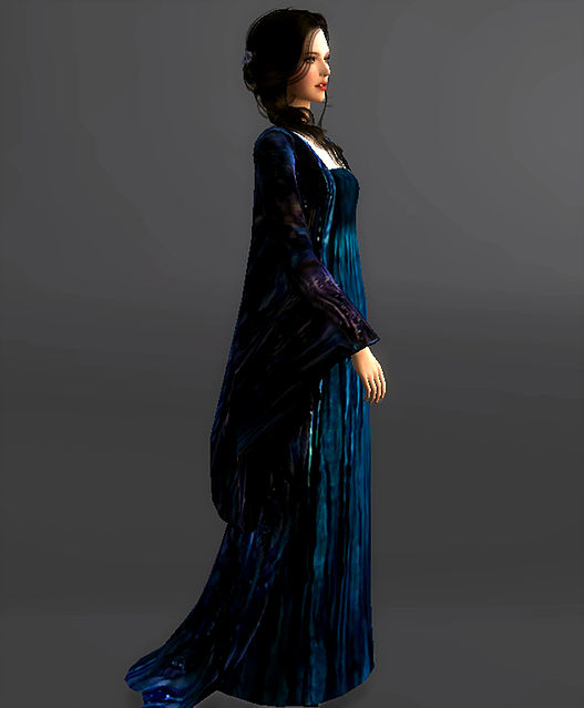 Sims 4 Water Gown / Funeral Gown Padme Amidala at Magnolian Farewell