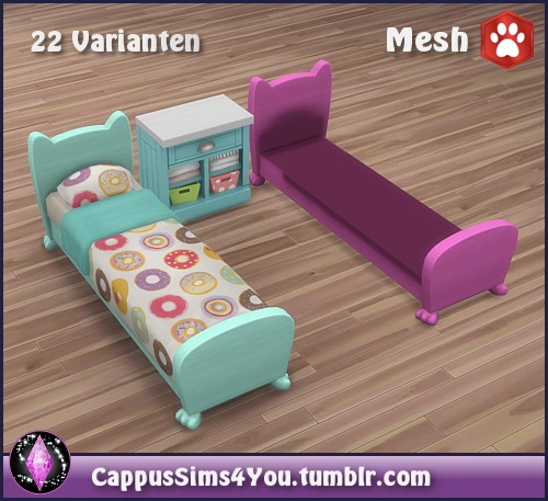 Bed frame Mr. Wuff & Mrs. Miau at CappusSims4You image 7615 Sims 4 Updates
