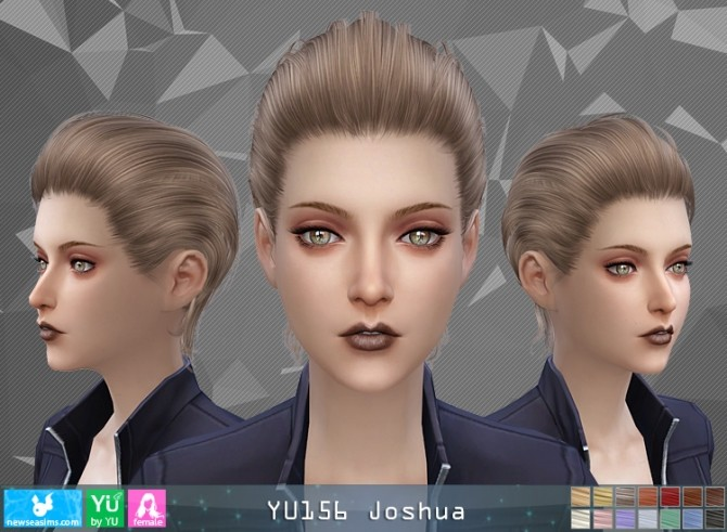 Sims 4 YU156 Joshua hair F (Pay) at Newsea Sims 4