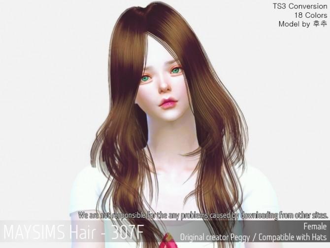 Sims 4 Hair 307F (Peggy) at May Sims