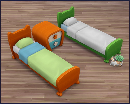 Bed frame Mr. Wuff & Mrs. Miau at CappusSims4You image 7715 Sims 4 Updates
