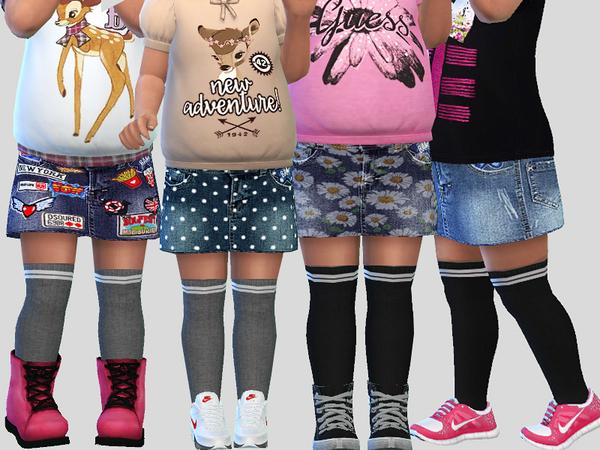 Denim Skirt 03 by Pinkzombiecupcakes at TSR image 779 Sims 4 Updates