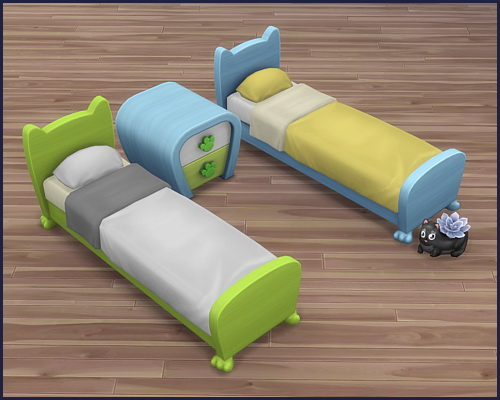 Bed frame Mr. Wuff & Mrs. Miau at CappusSims4You image 7815 Sims 4 Updates