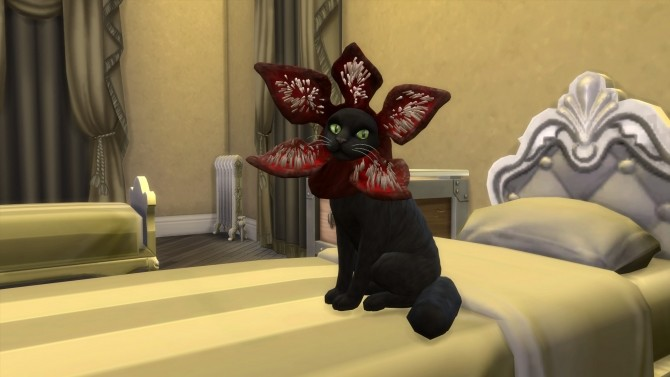 Demogorgon Cat Hat By Flerb At Mod The Sims 187 Sims 4 Updates