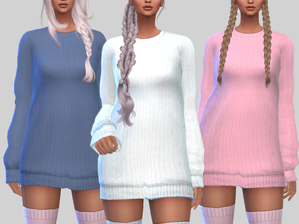 Sims 4 Soft Ribbed Sweater by Pinkzombiecupcakes at TSR