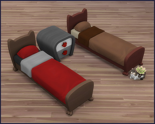 Bed frame Mr. Wuff & Mrs. Miau at CappusSims4You image 7915 Sims 4 Updates
