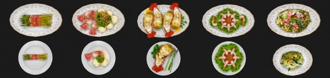 Sims 4 Food texture overhaul at Asteria Sims