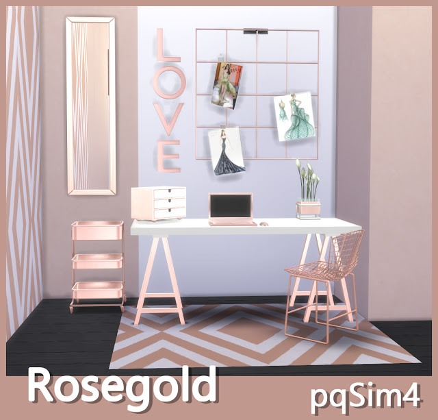 Rose Gold Decor At Pqsims4 187 Sims 4 Updates