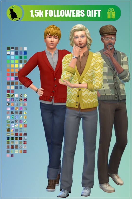 Sims 4 Recolors of EAs EP02 Cardigan by Standardheld at SimsWorkshop