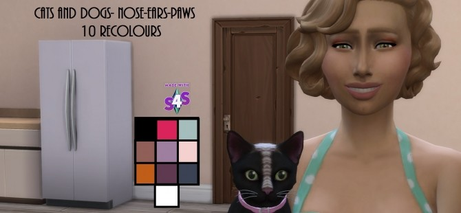 Cats and Dogs Nose, Ears and Paws 10 Recolours by wendy35pearly at Mod The Sims image 8210 670x310 Sims 4 Updates