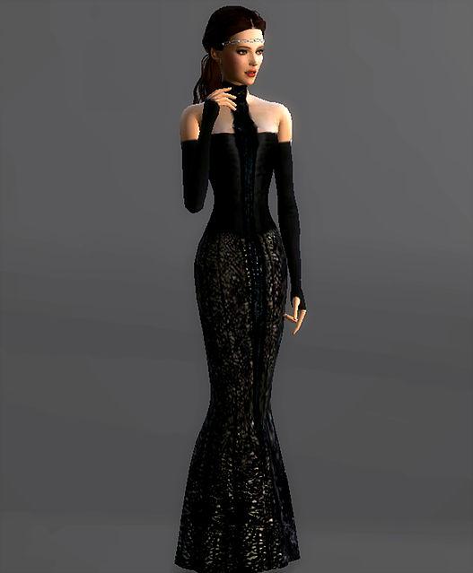 Sims 4 Fireside Corset Gown Padme Amidala at Magnolian Farewell