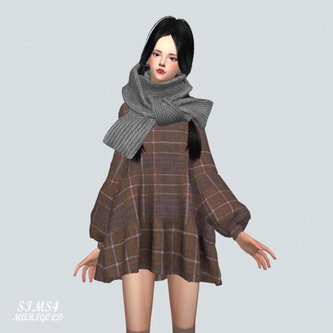 Sims 4 Boxy Frill Dress Top at Marigold