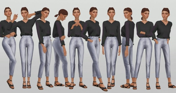 Simple Model Poses V.8 by catsblob at SimsWorkshop image 831 670x355 Sims 4 Updates