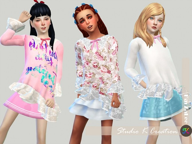 Sims 4 Type F top for kids at Studio K Creation