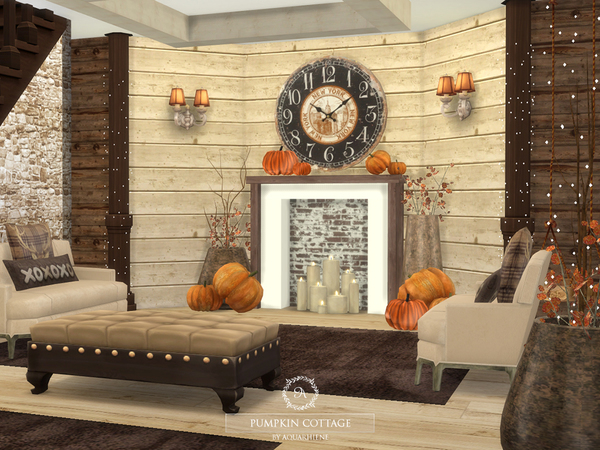 Pumpkin Cottage by Aquarhiene at TSR image 839 Sims 4 Updates