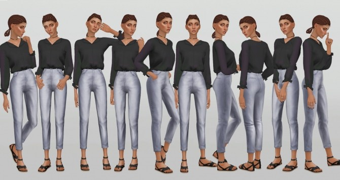 Simple Model Poses V.8 by catsblob at SimsWorkshop image 841 670x355 Sims 4 Updates
