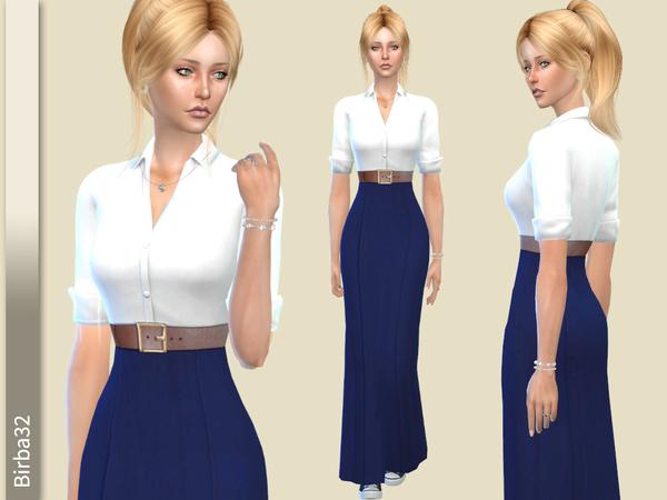 Ava long dress by Birba32 at TSR image 8410 Sims 4 Updates