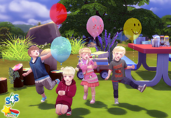 Balloon Pose (Toddler) at A luckyday image 8415 Sims 4 Updates