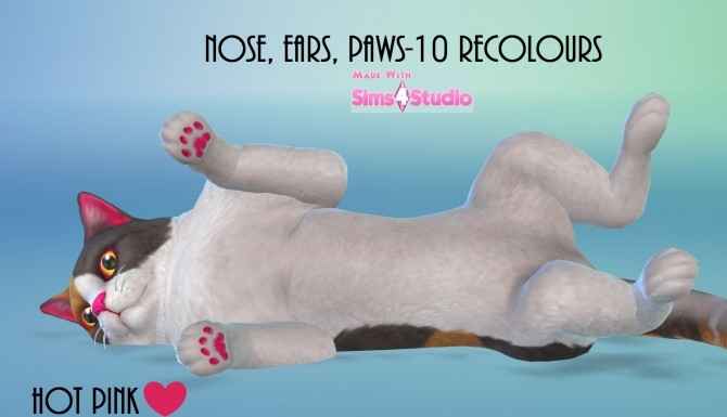 Cats and Dogs Nose, Ears and Paws 10 Recolours by wendy35pearly at Mod The Sims image 848 670x385 Sims 4 Updates
