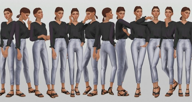 Simple Model Poses V.8 by catsblob at SimsWorkshop image 851 670x355 Sims 4 Updates